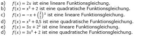 Quadratische Funktionen der Funktionsklassen. Lösungen zum Aufgabensatz 01 Blatt 1/1 Grundlagen Bild 1 /© by www.fit-in-mathe-online.de