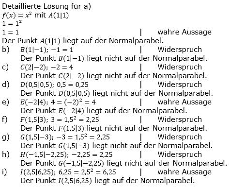 Quadratische Funktionen der Funktionsklassen. Lösungen zum Aufgabensatz 02 Blatt 1/1 Grundlagen Bild 1 /© by www.fit-in-mathe-online.de