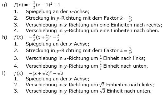 Quadratische Funktionen der Funktionsklassen. Lösungen zum Aufgabensatz 06 Blatt 1/1 Grundlagen Bild 2 /© by www.fit-in-mathe-online.de