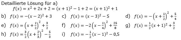 Quadratische Funktionen (Parabelön) der Funktionsklassen. Lösungen zum Aufgabensatz 06 Blatt 1/2 Grundlagen Bild 1 /© by www.fit-in-mathe-online.de