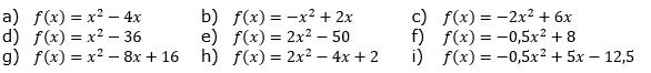 quadratische funktionen parabel 1 3 aufgaben fit in mathe. Black Bedroom Furniture Sets. Home Design Ideas