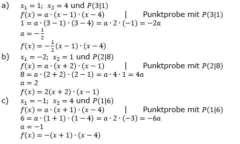 Quadratische Funktionen (Parabelön) der Funktionsklassen. Lösungen zum Aufgabensatz 08 Blatt 1/3 Grundlagen Bild 1 /© by www.fit-in-mathe-online.de