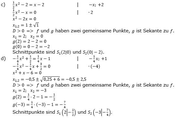 Quadratische Funktionen (Parabeln) der Funktionsklassen. Lösungen zum Aufgabensatz 02 Blatt 1/4 Grundlagen Bild 2 /© by www.fit-in-mathe-online.de