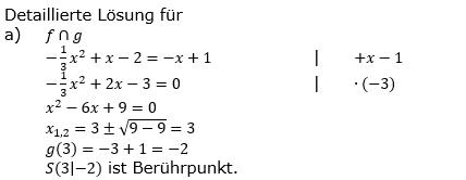 Quadratische Funktionen (Parabeln) der Funktionsklassen. Lösungen zum Aufgabensatz 03 Blatt 1/4 Grundlagen Bild 1 /© by www.fit-in-mathe-online.de