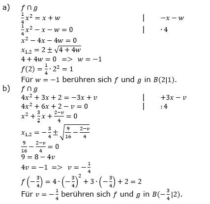 Quadratische Funktionen (Parabeln) der Funktionsklassen. Lösungen zum Aufgabensatz 05 Blatt 1/4 Grundlagen Bild 1 /© by www.fit-in-mathe-online.de