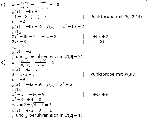 Quadratische Funktionen (Parabeln) der Funktionsklassen. Lösungen zum Aufgabensatz 06 Blatt 1/4 Grundlagen Bild 2 /© by www.fit-in-mathe-online.de