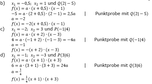 Quadratische Funktionen (Parabeln) der Funktionsklassen. Lösungen zum Aufgabensatz 08 Blatt 1/4 Grundlagen Bild 2 /© by www.fit-in-mathe-online.de