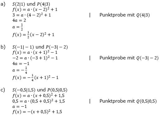 Quadratische Funktionen (Parabeln) der Funktionsklassen. Lösungen zum Aufgabensatz 09 Blatt 1/4 Grundlagen Bild 1 /© by www.fit-in-mathe-online.de
