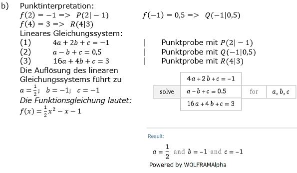 Quadratische Funktionen der Funktionsklassen. Lösungen zum Aufgabensatz 01 Blatt 2/1 Fortgeschritten Bild 2 /© by www.fit-in-mathe-online.de