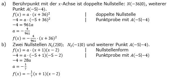 Quadratische Funktionen der Funktionsklassen. Lösungen zum Aufgabensatz 02 Blatt 2/2 Fortgeschritten Bild 1 /© by www.fit-in-mathe-online.de