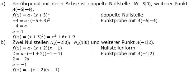Quadratische Funktionen der Funktionsklassen. Lösungen zum Aufgabensatz 03 Blatt 2/2 Fortgeschritten Bild 1 /© by www.fit-in-mathe-online.de