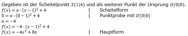 Quadratische Funktionen der Funktionsklassen. Lösungen zum Aufgabensatz 05 Blatt 2/2 Fortgeschritten Bild 1 /© by www.fit-in-mathe-online.de