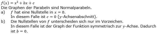Quadratische Funktionen der Funktionsklassen. Lösungen zum Aufgabensatz 06 Blatt 2/2 Fortgeschritten Bild 1 /© by www.fit-in-mathe-online.de