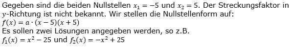 Quadratische Funktionen der Funktionsklassen. Lösungen zum Aufgabensatz 10 Blatt 2/2 Fortgeschritten Bild 1 /© by www.fit-in-mathe-online.de