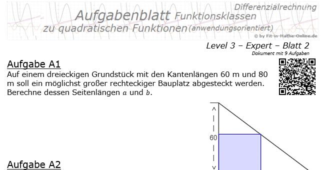 quadratische funktionen parabel 3 2 aufgaben fit in mathe. Black Bedroom Furniture Sets. Home Design Ideas