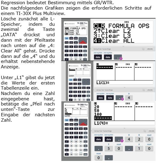 Graphik zu Aufstellung quadratischer Funktionen mittels Regression Bild 1 (Graphik W0042 Quadratische Funktionen der Funktionsklassen)/© by Fit-in-Mathe-Online
