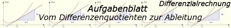 Vom Differenzenquotienten zur Ableitung - Aufgabenblätter/© by www.fit-in-mathe-online.de