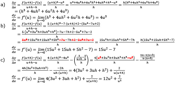 Vom Differenzenquotienten zur Ableitung Lösungen zum Aufgabensatz 4 Blatt 1/3 Grundlagen Bild 1/© by www.fit-in-mathe-online.de