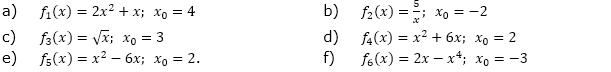 Berechne f'(x) mit der 'x'-Methode, (Grafik A230101 im Aufgabensatz 1 Blatt 2/3 Fortgeschritten zu Differenzenquotient zur Ableitung/© by www.fit-in-mathe-online.de)