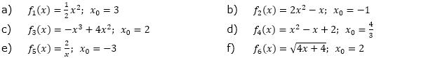 Berechne f'(x) mit der 'h'-Methode, (Grafik A230201 im Aufgabensatz 2 Blatt 2/3 Fortgeschritten zu Differenzenquotient zur Ableitung/© by www.fit-in-mathe-online.de)
