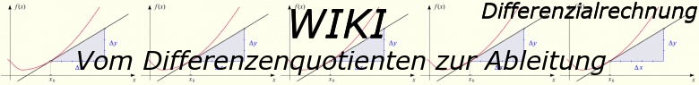 WIKI zum Differenzenquotienten zur Ableitung / © by Fit-in-Mathe-Online.de