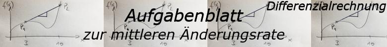 Mittlere Änderungsrate - Aufgabenblätter/© by www.fit-in-mathe-online.de