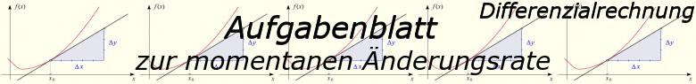 Momentane Änderungsrate - Aufgabenblätter/© by www.fit-in-mathe-online.de
