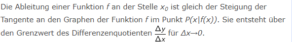 Merksatz Begriff Ableitung/© by www.fit-in-mathe-online.de)