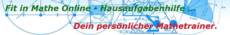 Die Fit in Mathe Online Hausaufgaben-/Nachhilfe als dein persönlicher Mathetrainer./© by www.fit-in-mathe-online.de