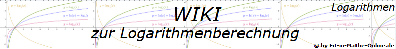 WIKI  Berechnung von Logarithmen / © by Fit-in-Mathe-Online.de