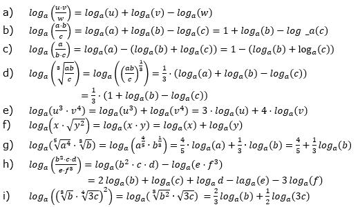 Logarithmengesetze zum Aufgabensatz 1 Blatt 01 © by www.fit-in-mathe-online.de