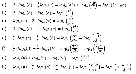 Logarithmengesetze zum Aufgabensatz 2 Blatt 01 © by www.fit-in-mathe-online.de