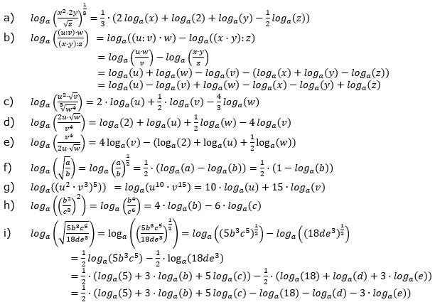 Logarithmengesetze zum Aufgabensatz 1 Fortgeschritten Blatt 01 © by www.fit-in-mathe-online.de