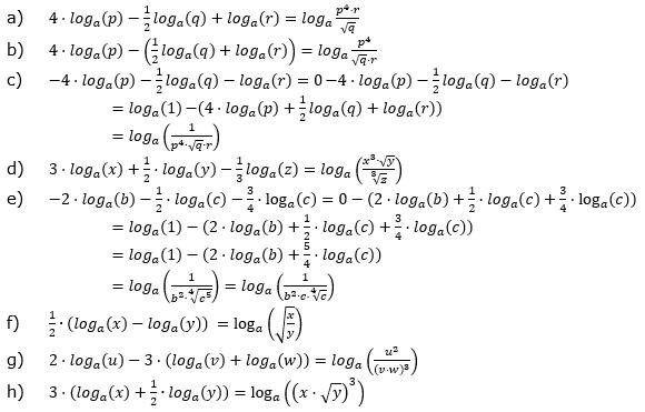Logarithmengesetze zum Aufgabensatz 2 Fortgeschritten Blatt 01 © by www.fit-in-mathe-online.de
