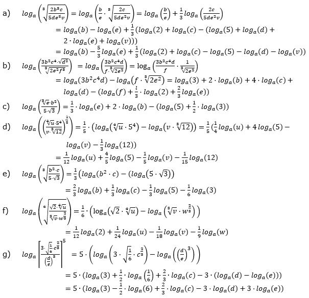 Logarithmengesetze zum Aufgabensatz 1 Fortgeschritten Blatt 02 © by www.fit-in-mathe-online.de