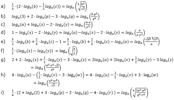 Logarithmengesetze zum Aufgabensatz 2 Fortgeschritten Blatt 02 © by www.fit-in-mathe-online.de