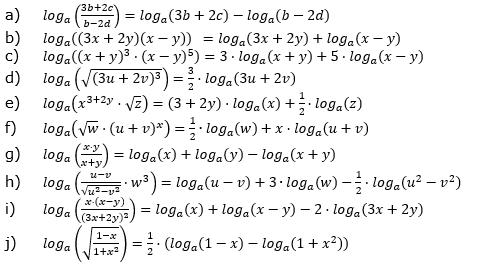 Logarithmengesetze zum Aufgabensatz 3 Fortgeschritten Blatt 02 © by www.fit-in-mathe-online.de