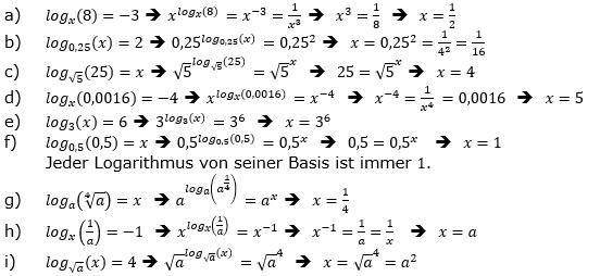Logarithmus einer Zahl Fortgeschritten Lösungen zum Aufgabensatz 4 Blatt 03 © by www.fit-in-mathe-online.de
