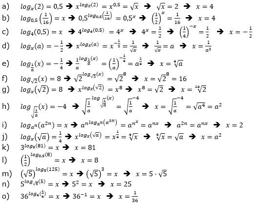 Logarithmus einer Zahl Fortgeschritten Lösungen zum Aufgabensatz 5 Blatt 03 © by www.fit-in-mathe-online.de