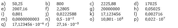 Zehnerpotenzen Fortgeschritten 1. Aufgabenblatt mit 64 Aufgaben