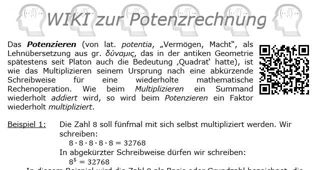 potenz rechnung didaktik der algebra und funktionenlehre