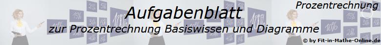 Prozentrechnung allgemein Aufgabenblätter /© by www.fit-in-mathe-online.de