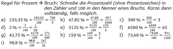 Prozentrechnung allgemein Lösungen zum Aufgabensatz 3 Blatt 1/2 Grundlagen Bild 1/© by www.fit-in-mathe-online.de