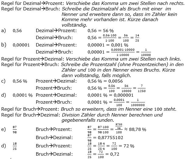 Prozentrechnung allgemein Lösungen zum Aufgabensatz 4 Blatt 1/2 Grundlagen Bild 1/© by www.fit-in-mathe-online.de