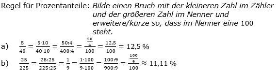 Prozentrechnung Basiswissen Lösungen zum Aufgabensatz 1 Blatt 2/1 Fortgeschritten Bild 1/© by www.fit-in-mathe-online.de