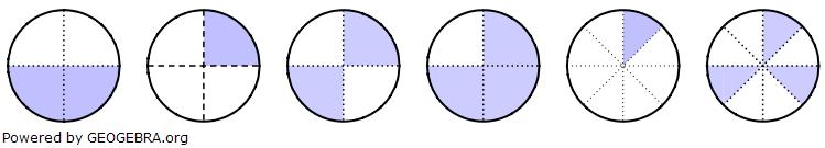 Wie viel Prozent der Flächen sind jeweils gefärbt? (Grafik A210301 im Aufgabensatz 3 Blatt 2/1 Fortgeschritten zur Prozentrechnung Basiswissen) /© by www.fit-in-mathe-online.de)
