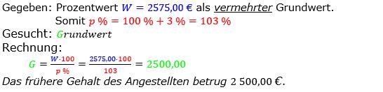 Prozentrechnung Grundwert Lösungen zum Aufgabensatz 4 Blatt 1/2 Grundlagen Bild 1/© by www.fit-in-mathe-online.de