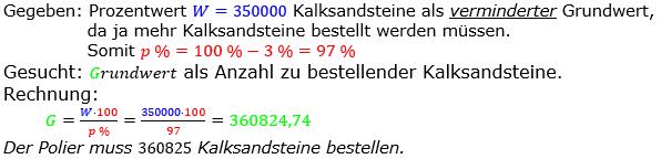 Prozentrechnung Grundwert Lösungen zum Aufgabensatz 8 Blatt 1/2 Grundlagen Bild 1/© by www.fit-in-mathe-online.de