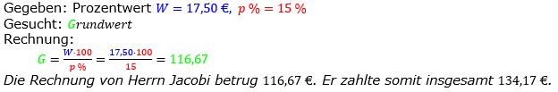 Prozentrechnung Grundwert Lösungen zum Aufgabensatz 10 Blatt 2/1 Fortgeschritten Bild 1/© by www.fit-in-mathe-online.de