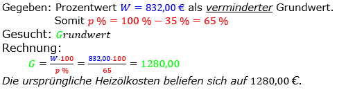 Prozentrechnung Grundwert Lösungen zum Aufgabensatz 02 Blatt 2/2 Fortgeschritten Bild 1/© by www.fit-in-mathe-online.de